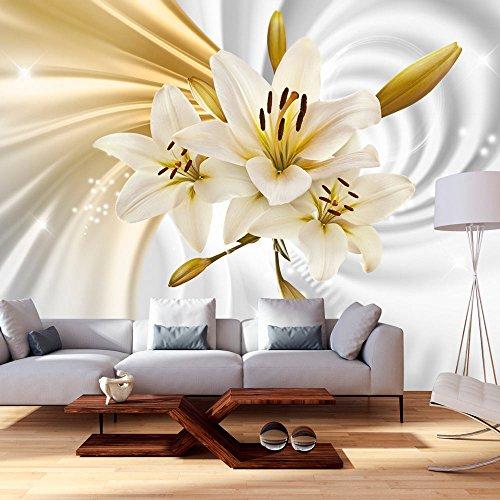 Vlies Fototapete 350x245 cm - 3 Farben zur Auswahl - Top Tapete Wandbilder XXL Wandbild Bild Fototapeten Tapeten Wandtapete Blumen Lilien Abstrakt b-A-0317-a-b