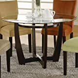 coaster home furnishings casual dining table base only cappuccino - Dining Table For Small Room