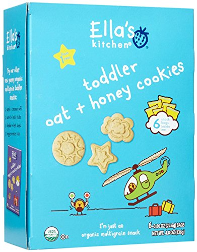 Ella's Kitchen Organic Toddler Cookies-Oat Honey-6 Count-6 Pack
