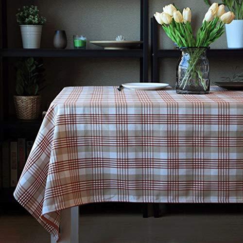 ZXUE Mantel Impermeable y Resistente al Aceite, Mantel de té a Rayas, Lino de algodón (Color : A, Tamaño : 135x200cm)
