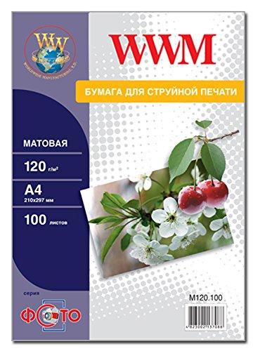 Photo Paper Matte WWM 8.3 x 11.7 Inches 100 Sheets 120gsm - 120gsm Matt