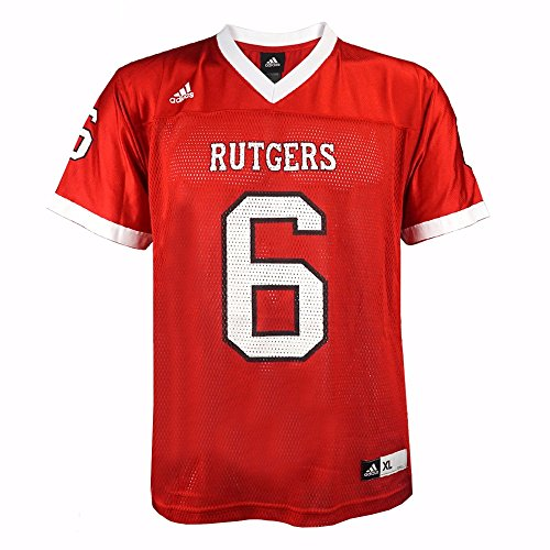 Rutgers Scarlet NCAA Adidas Red Official Home #6 Replica Football Jersey For Youth (L)