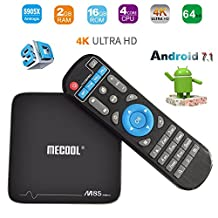 Xiangtat M8S PRO PLUS Amlogic S905X Quad Core 2GB DDR3 RAM 16GB ROM Android 7.1 2.4G WiFi 100M LAN 4Kx2K 60fps HDR10 H.265 HEVC VP9 Android TV Box