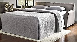 """Ashley Tibbee 9910136 78"""" Pull-Out Full Size Sofa Sleeper with Tufted Back Cushions Loose Seat Cushions and Mattress in"""