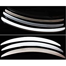 Amooca Rear Trunk Lip Spoiler Wing Fit For 2009-2014 Chevrolet Cruze White ABS plastic 1PCS