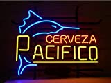 Pacifico Clara Mexican Cerveza Neon Sign 17''x14''Inches Bright Neon Light for Store Beer Bar Pub Garage Room