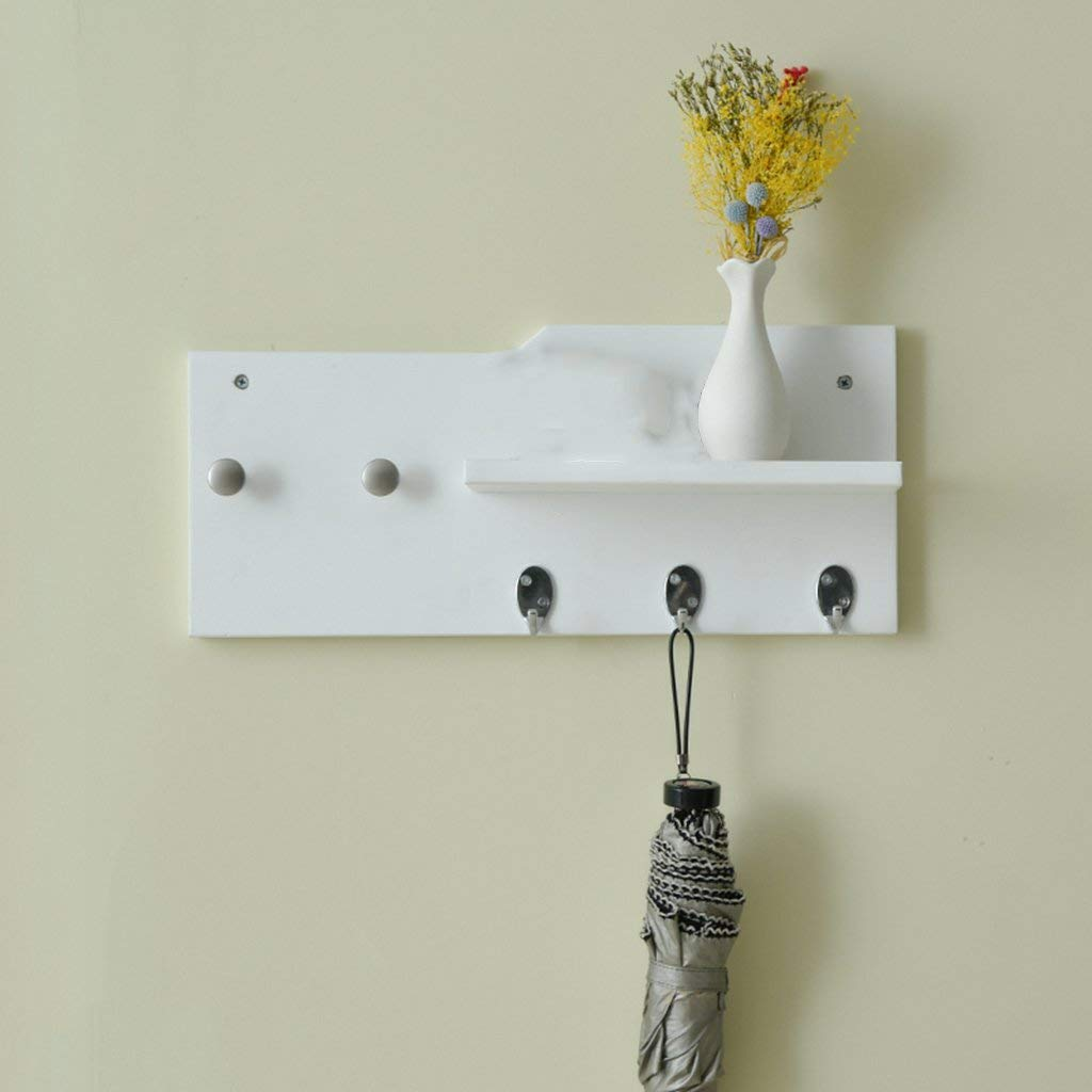 3 DYR Coat Hanger Creative Wall Coat Rack Black White MDF Wall Coat Hanger Stable and Resistant Coat Hanger (color  1)