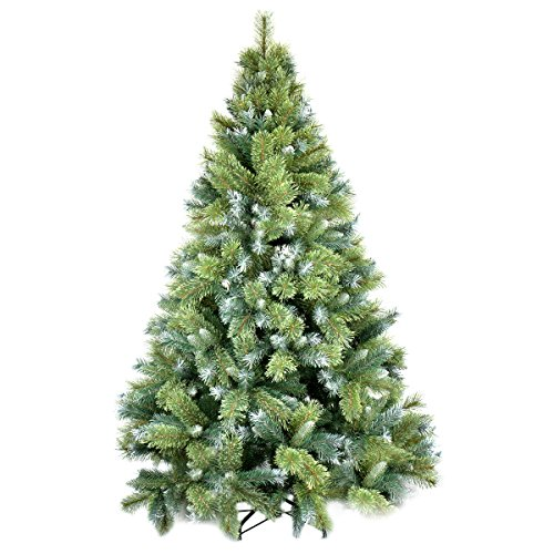 Pine Christmas Trees - Christmas Tree, Wuudi 6Ft Natural Pine Tree With Solid Metal Legs Artificial Christmas Tree (Green and White)