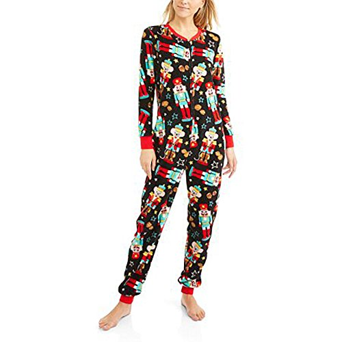Secret Treasures Women's Christmas Holiday Nutcracker Dropseat Pajama Union Suit One Piece Sleepwear,2XL (18-20)