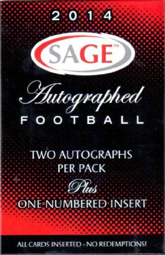 1 (One) Pack - 2014 Sage Autographed Football Hobby Pack (3 Cards per Pack) - Possible Johnny Manziel, Jadeveon Clowney, Blake (Stars Football Cards Hobby Box)