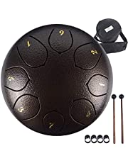 Yeasl Steel Tongue Drum 8 Notes 6 Inch Steel Panda Drum Set Musical Instruments C-Key Handpan Drum With Carry Bag For Kids And Adults For Musical Education Instruments Concert