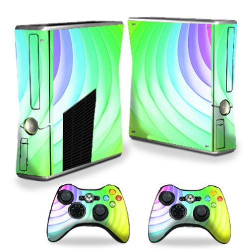 MightySkins Protective Vinyl Skin Decal Cover for Microsoft Xbox 360 S Slim + 2 Controller skins wrap sticker skins Color Wheel Review