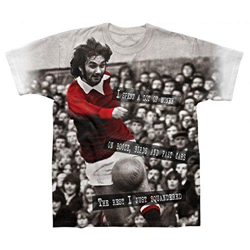 - Manchester United Football Legend George Best Soccer Gift Mens T-Shirt Medium
