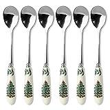 Spode Christmas Tree 6-Inch Tea Spoon, Set of 6