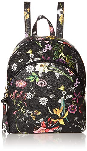Jeans Zip Back Denim (T-Shirt & Jeans Womens Charlotte Double Zip Back Pack in Floral,  Multi, One Size)