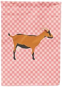 Caroline 's Treasures BB7888GF OberhasliGoat Pink Check - Bandera de jardín, multicolor