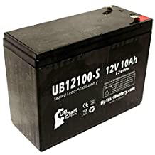 B & B Battery BP10-12 Battery - Replacement UB12100-S Universal Sealed Lead Acid Battery (12V, 10Ah, 10000mAh, F2 Terminal, AGM, SLA)