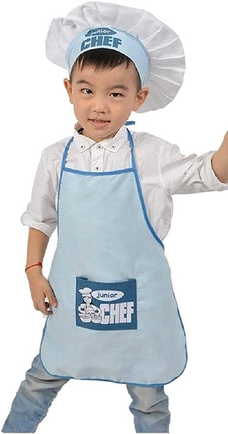 Disfraz de chef - uniforme - junior - chef - niños - gorro ...