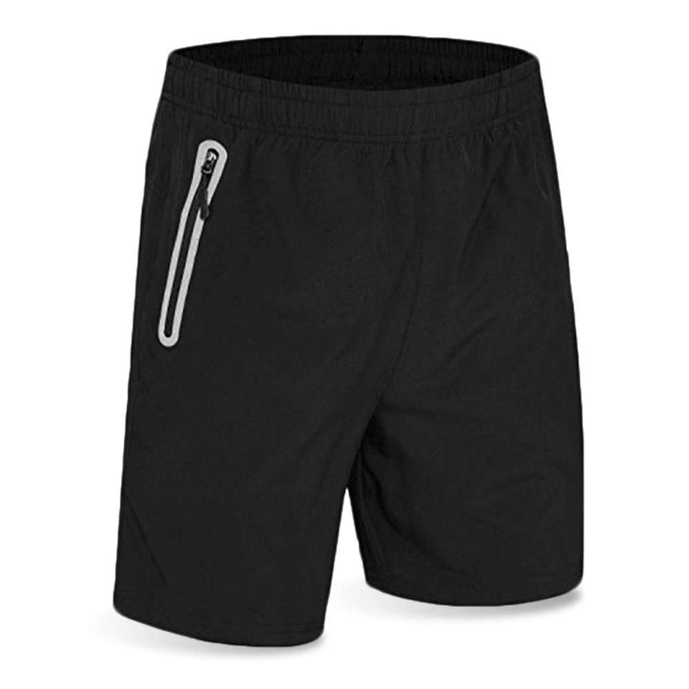 f140543662e0 Men's Running Short Gym Workout Deep Side Reflective Zipper Pocket Quick  Dry Beach Athletic Swim Short 7