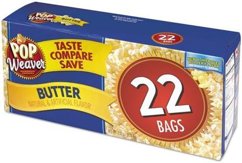 Pop Weaver – Microondas palomitas, mantequilla, 2.17oz bolsa, 22 ...