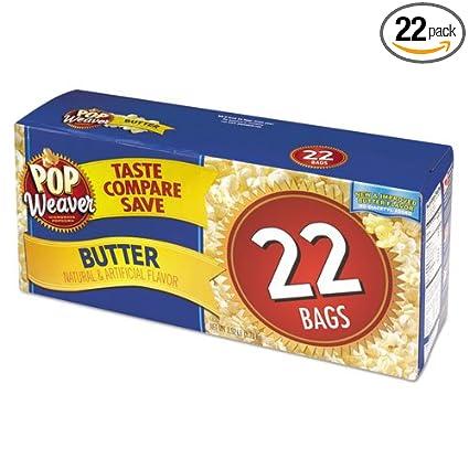 Pop – Weaver Microondas palomitas de maíz, mantequilla, 2.17 ...