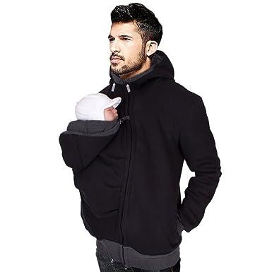 Desshok Kangaroo Papa Pull Homme Sac bébé de l automne et l hiver ... 91242537ad3