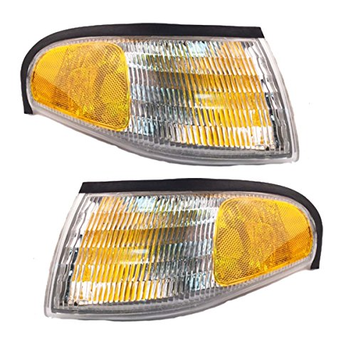 1994-1998 Ford Mustang Corner Park Light Turn Signal Marker Lamp (Light Lamp Pair Set)