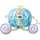 "Single Source Party Supplies - 33"" Cinderella Carriage Shape Mylar Foil Balloon"