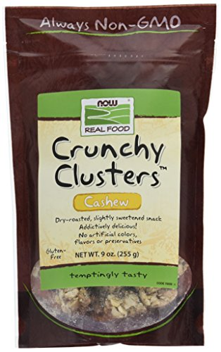 NOW Foods Cashew Crunchy Clusters, 9-Ounce (Pack of 2) by NOW Foods