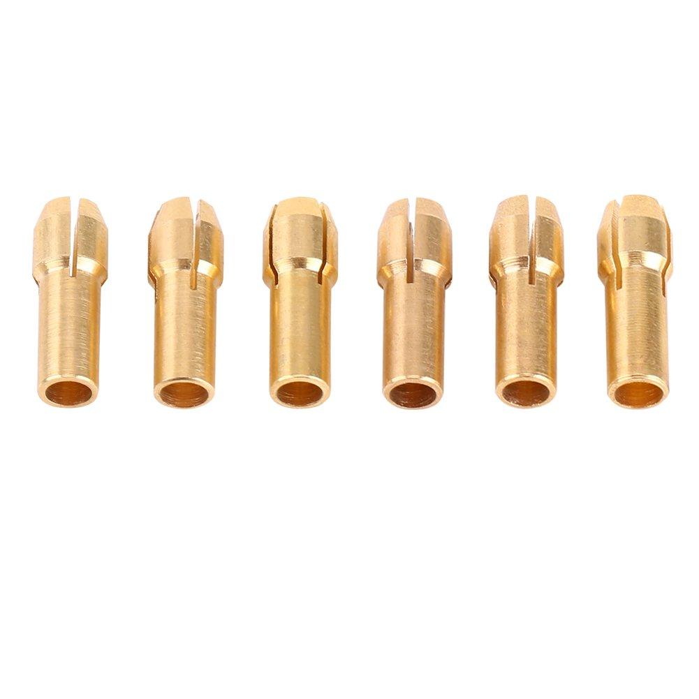 6Pcs 1mm-3.2mm Mandrins Pinces Fixation Serrage avec 1pc Ecrou Noir Tournevis pour Perceuse Foret