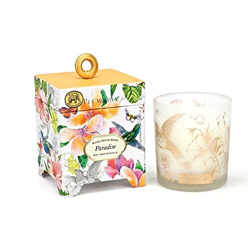 Michel Design Works Gift Boxed Soy Wax Candle, 6.5-Ounce, 6.5 oz, Paradise
