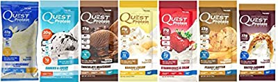 Quest Nutrition Quest Protein aefdW Powder Milkshake Single Serve Pouches 1 of each flavor 7 Packets hcxNF