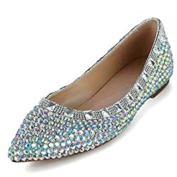 Glitter Rhinestone & Faux Crystal Premium Leather Shoes