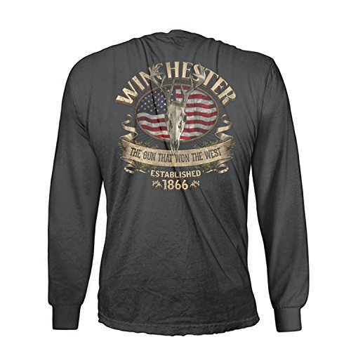 Winchester Southern Rebel Skull Men's Long Sleeve In Premium Edition Super Soft Tee