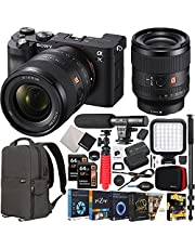 $3197 » Sony a7C Mirrorless Full Frame Camera Body + Sony FE 35mm F1.4 GM G Master Lens SEL35F14GM Black ILCE7C/B Bundle with Deco Gear Photography Backpack Case + Microphone + LED + Monopod and Accessories