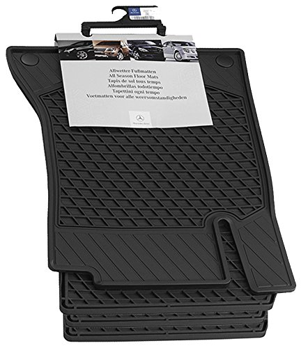 Mercedes Benz OEM All Weather Season Floor Mats 2015 to 2018 C-Class Sedan (Set of 4) (Color:Black) (Sedan Mercedes C-class)