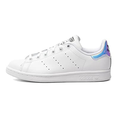 best service 4b674 fb332 Adidas Big Kids Stan Smith (white   metallic silver   footwear white) Size  5.5