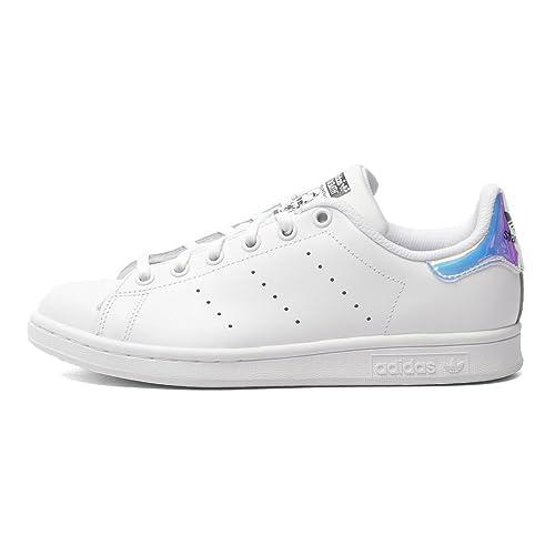 adidas Big Kids Stan Smith (White/Metallic Silver/Footwear ...
