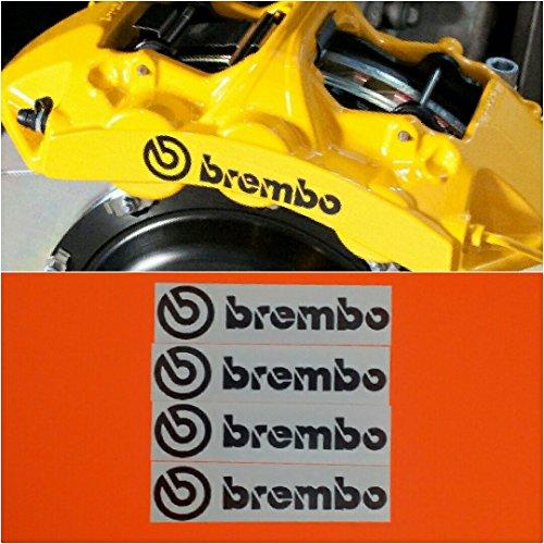 - R&G Brembo 6 PISTON HIGH TEMP Brake Caliper Decal Sticker Set of (Black)
