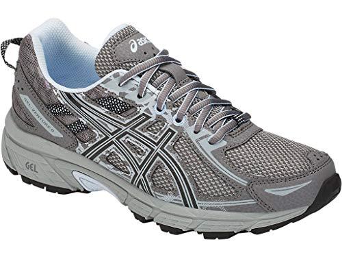 61934c8e6b72e ASICS Women's Gel-Venture 6 Running Shoes, 8.5M, Carbon/Soft Sky