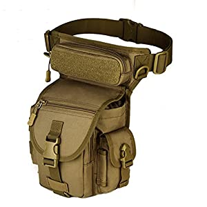 X-Freedom Men Sport Multi-purpose Racing Drop Leg Bag Motorcycle Outdoor Bike Cycling Thigh Tactical Bag, Dark Brown
