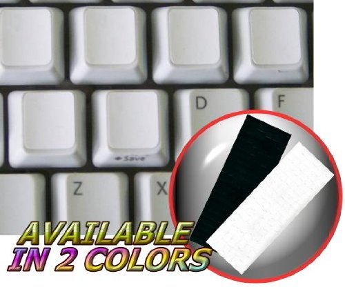 BLANK KEYBOARD STICKERS WHITE BACKGROUND FOR DESKTOP, LAPTOP AND NOTEBOOK