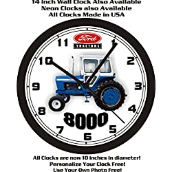 FORD 8000 TRACTOR 14 INCH WALL CLOCK-FREE USA SHIP
