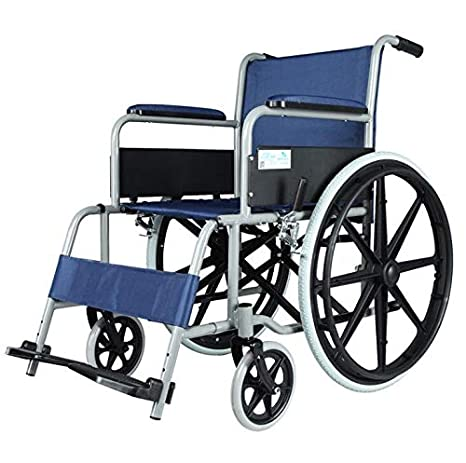 TWGDH Silla De Ruedas Plegable Autopropulsada con Reposapiés Silla De Ruedas Ligera Desplazable para Personas De La Tercera Edad con Discapacidad Y ...