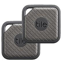 Tile EC-09002 Tile Sport - Key Finder. Phone Finder. Anything Finder (Graphite) - 2-pack