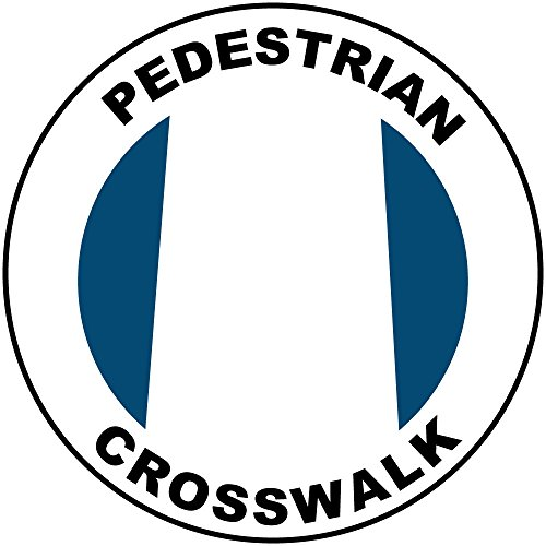 Pedestrian Crosswalk Blue White Anti-Slip Floor Sticker Decal 17 in longest side