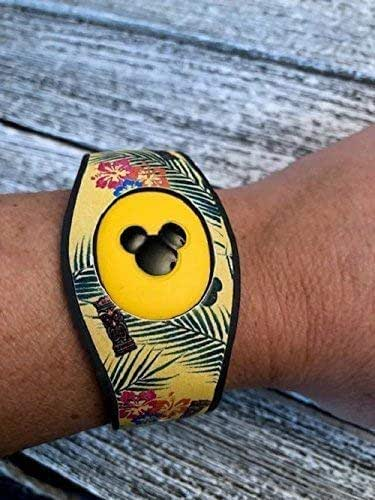 For Disney Magic Band 2 Decal Skins Sticker Polynesian Hibiscus Flowers