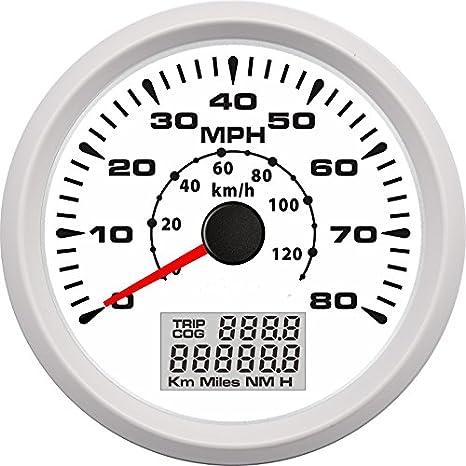 ELING - Velocímetro universal GPS para coche, barco, motocicleta, ATV, UTV, 9-32 V, con 8 diferentes retroiluminación: Amazon.es: Coche y moto