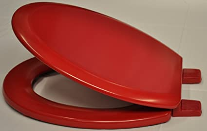 Pleasant Bemis Red Coloured Toilet Seat Onthecornerstone Fun Painted Chair Ideas Images Onthecornerstoneorg