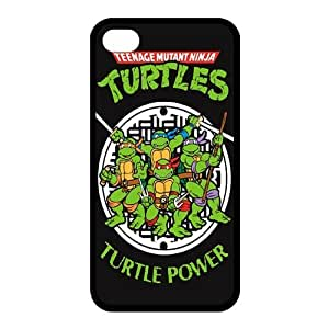 icasesstore Teenage Mutant Ninja Turtles RUBBER Case for Apple iPhone 4 4S TPU
